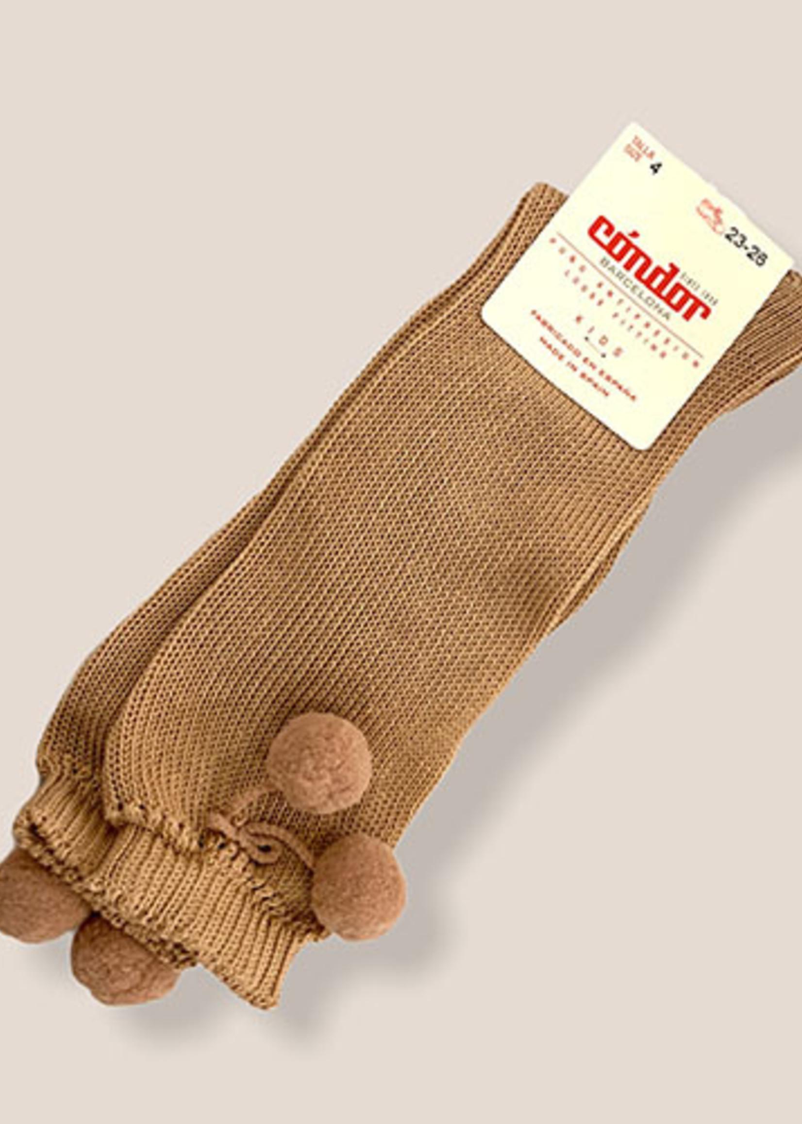 condor Condor-ss21 2.504 perle knee high socks with pompoms