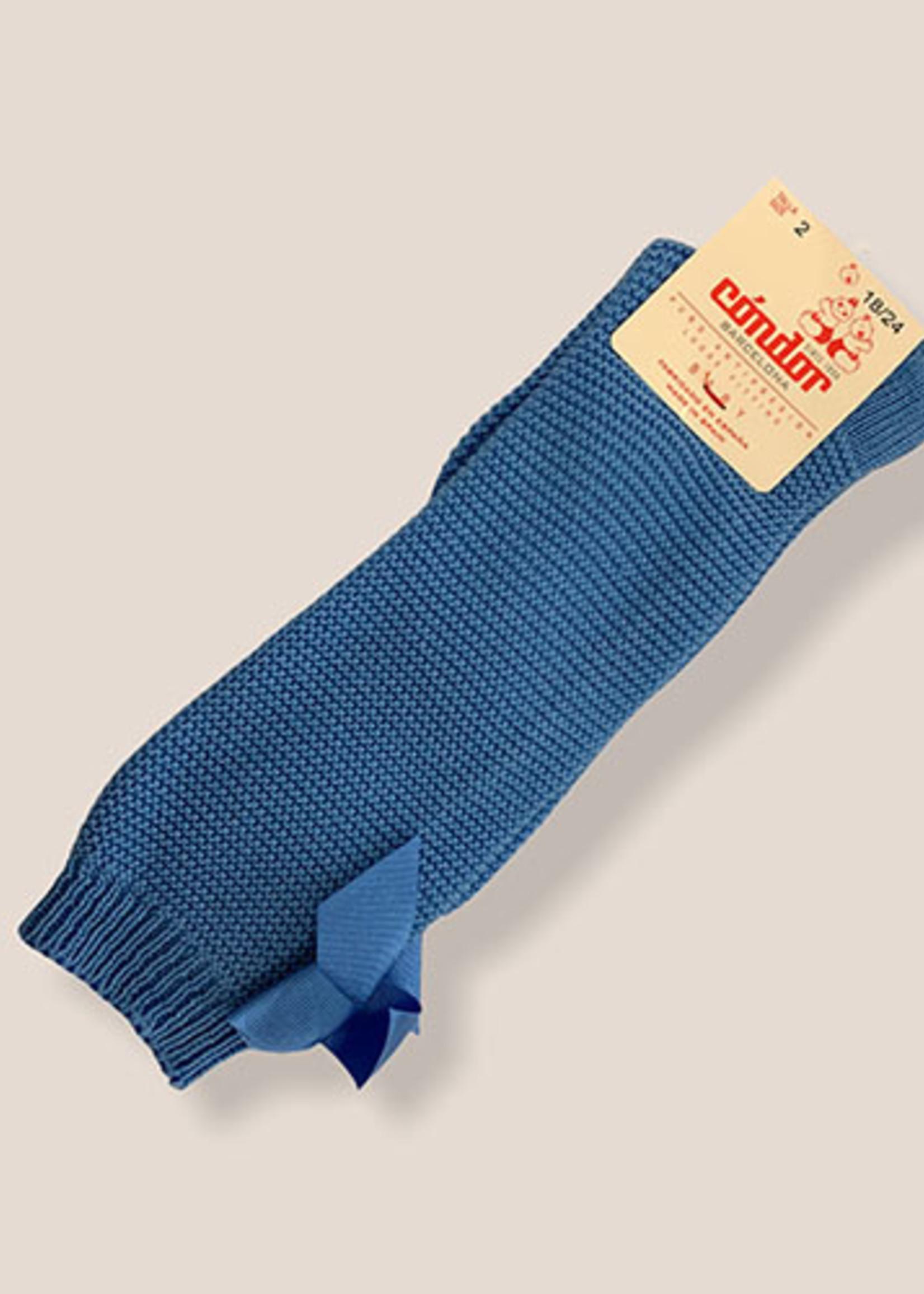 condor Condor-ss21 2.007 garter stitch knee high socks with bow