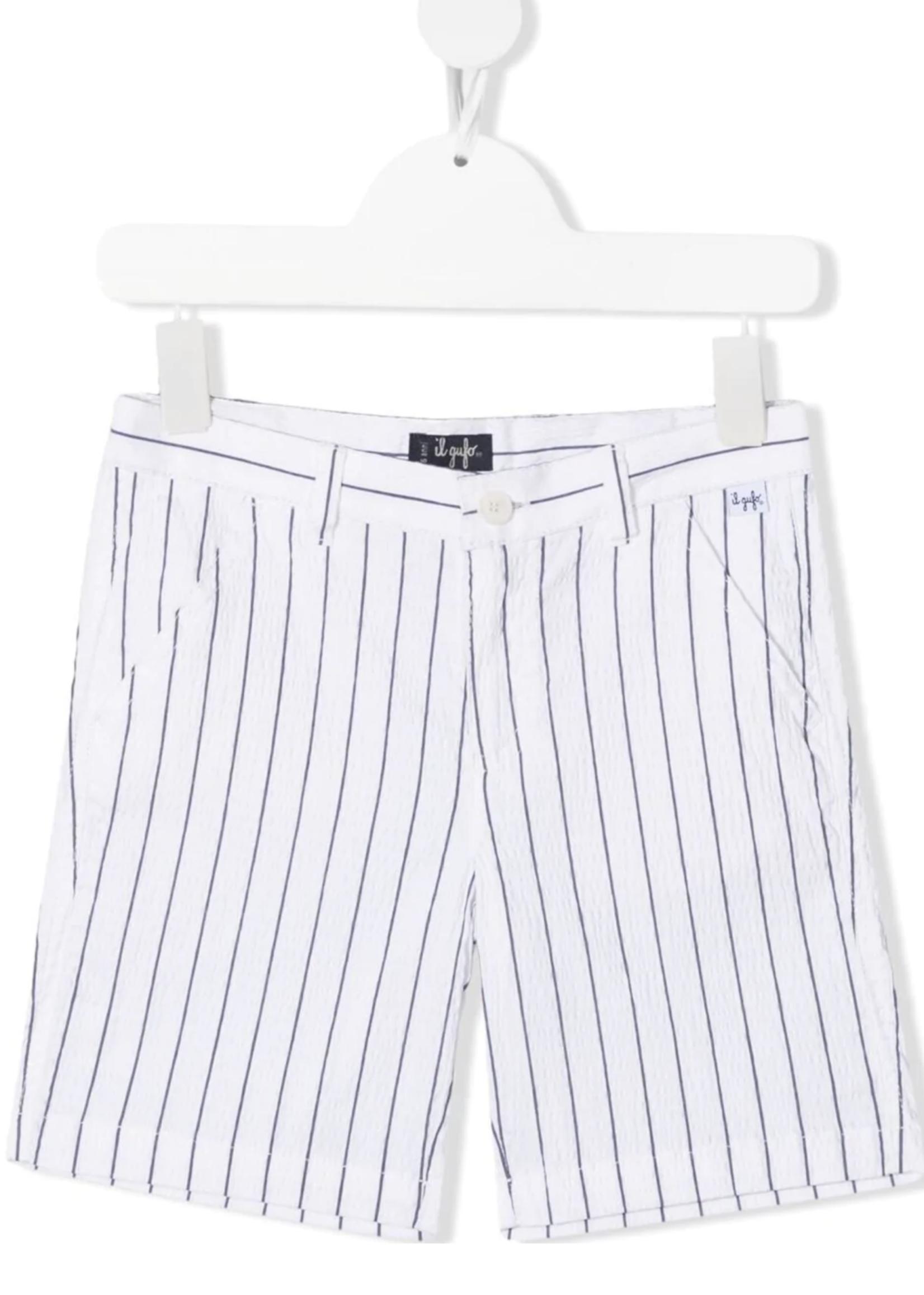 Il Gufo Il Gufo-ss21  striped casual shorts