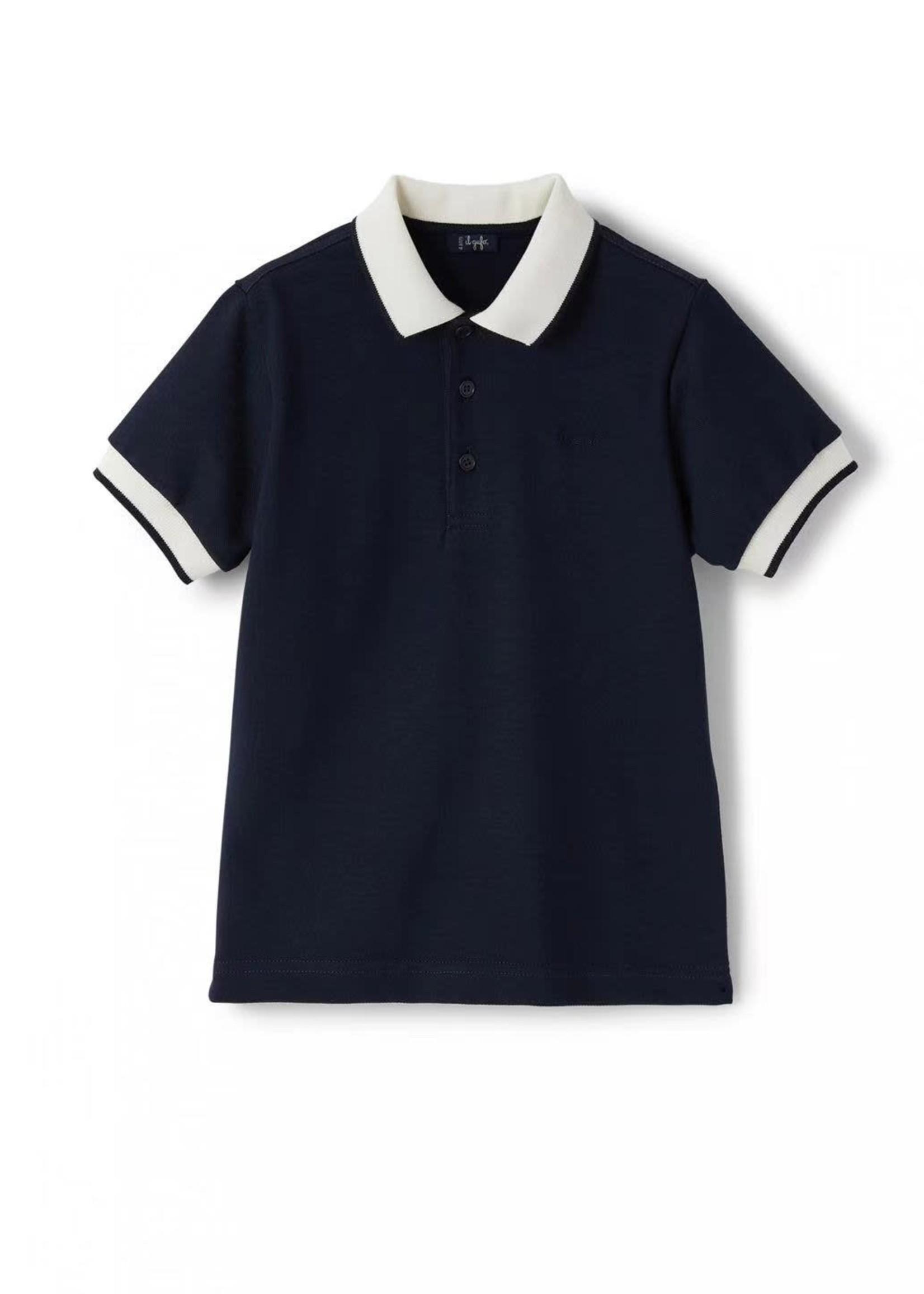 Il Gufo Il Gufo-ss21 Boys Blue Cotton Polo Shirt
