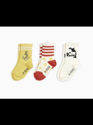 Mini Rodini Mini Rodini-SS21 2166011900 Orca 3-pack socks