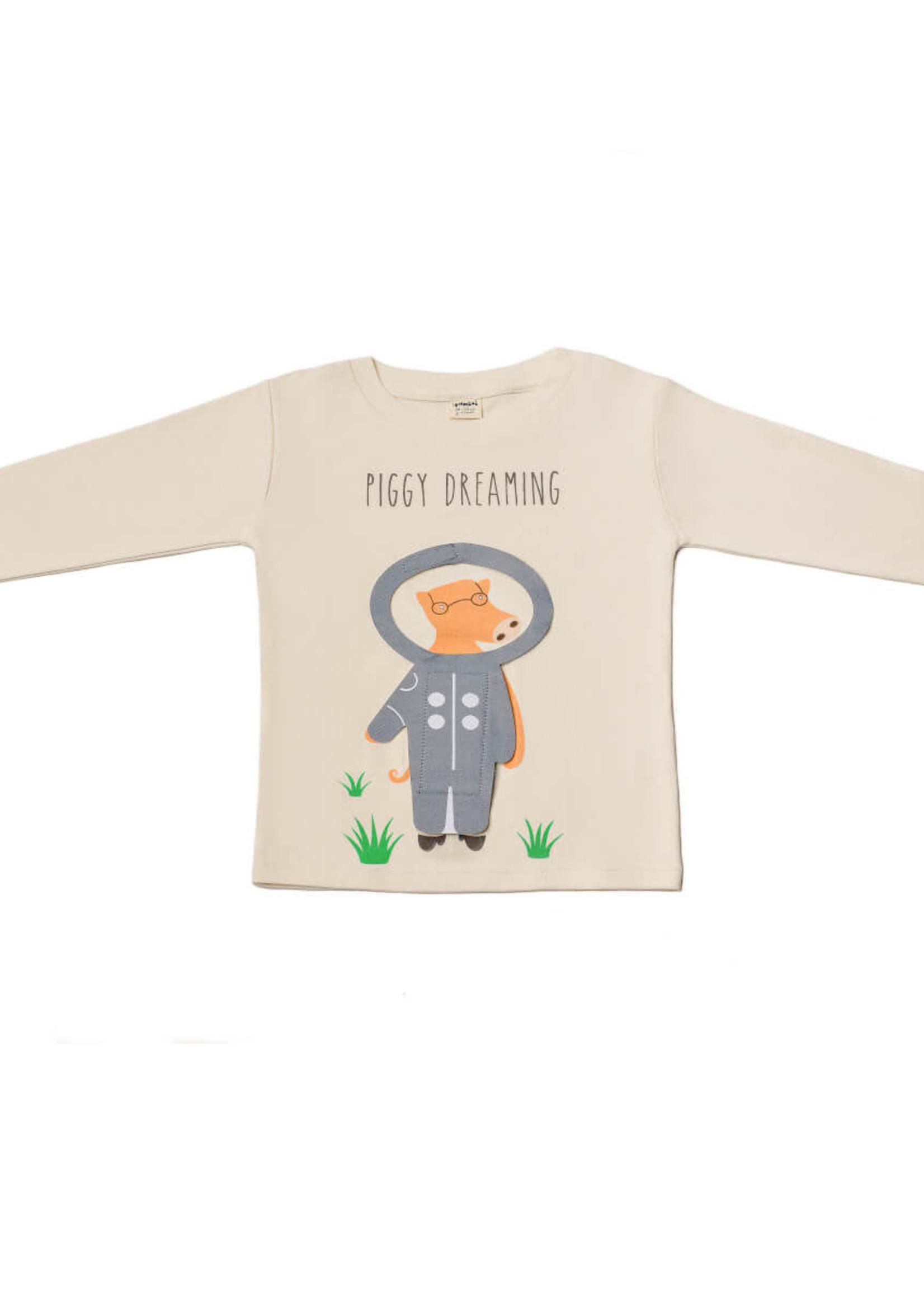 Pamboo Pamboo-ss21 Piggy dreaming  shirt