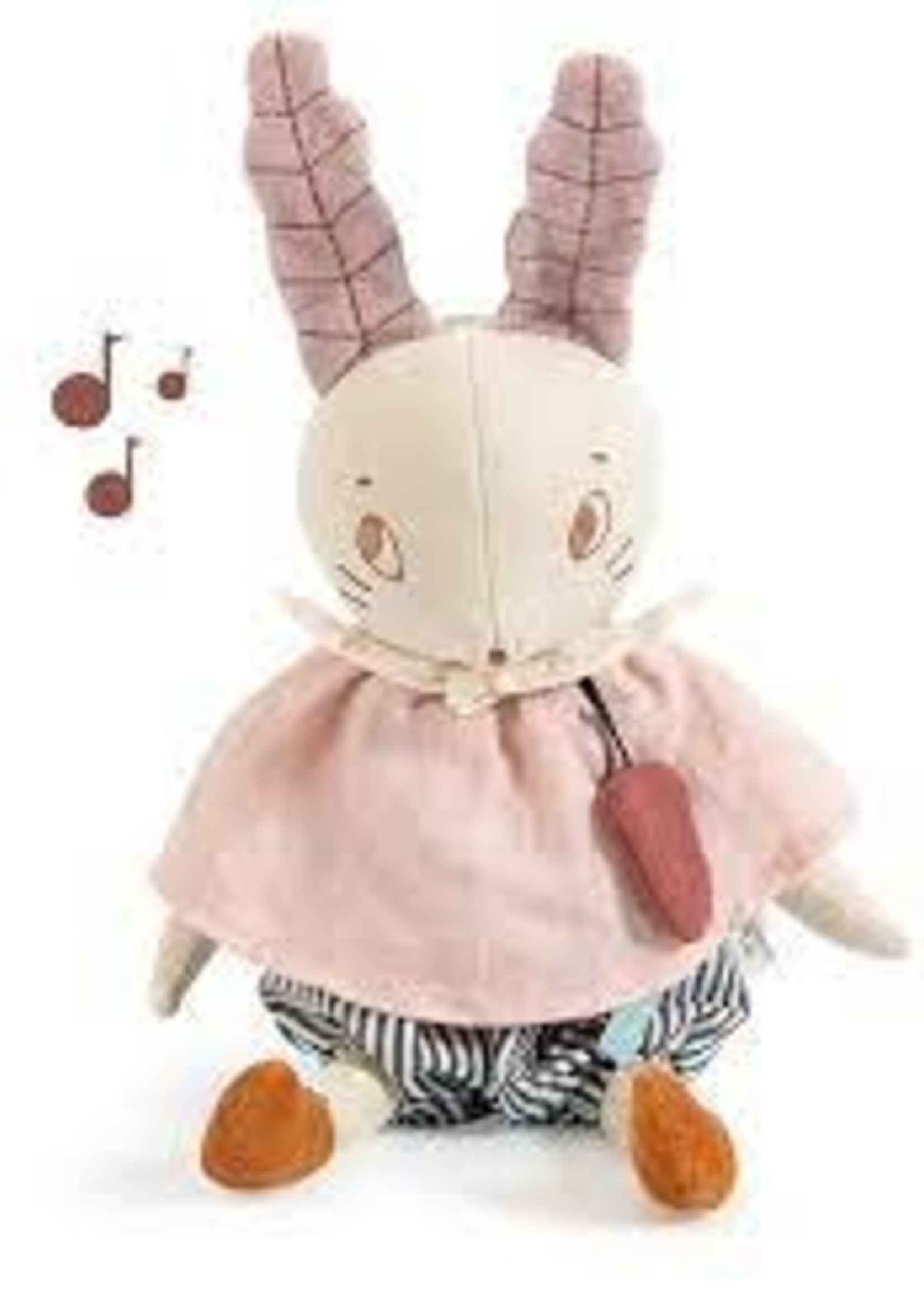Mideer Moulin Roty SS21- 715041 Apres la Pluie - musical rabbit soft toy