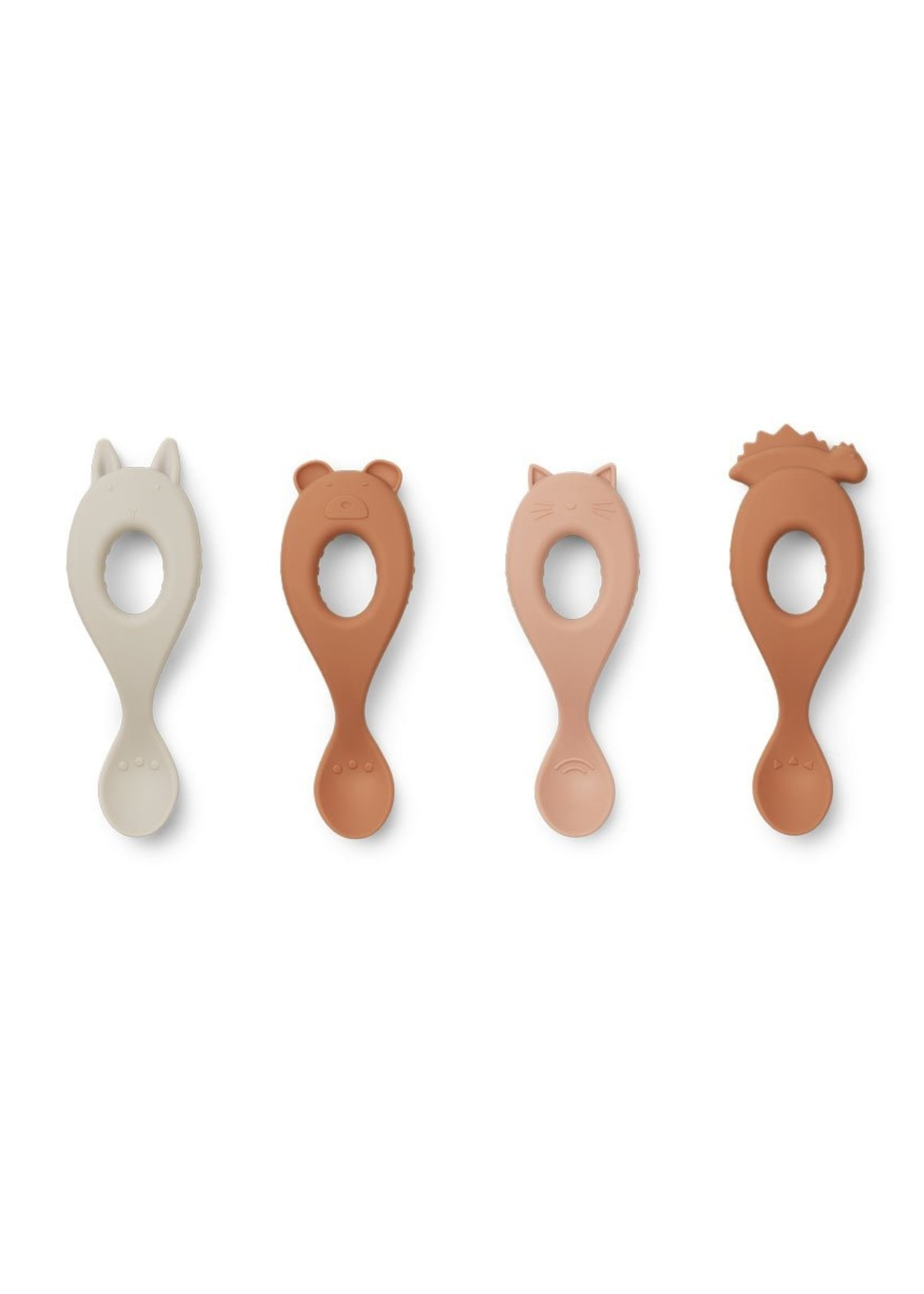 liewood Liewood-SS21 LW13044 Liva silicone spoon 4-pack