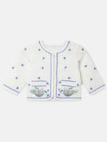 Stella McCartney Stella Mccartney 602557SQKD3 Embroidered Flowers Cotton Jacket