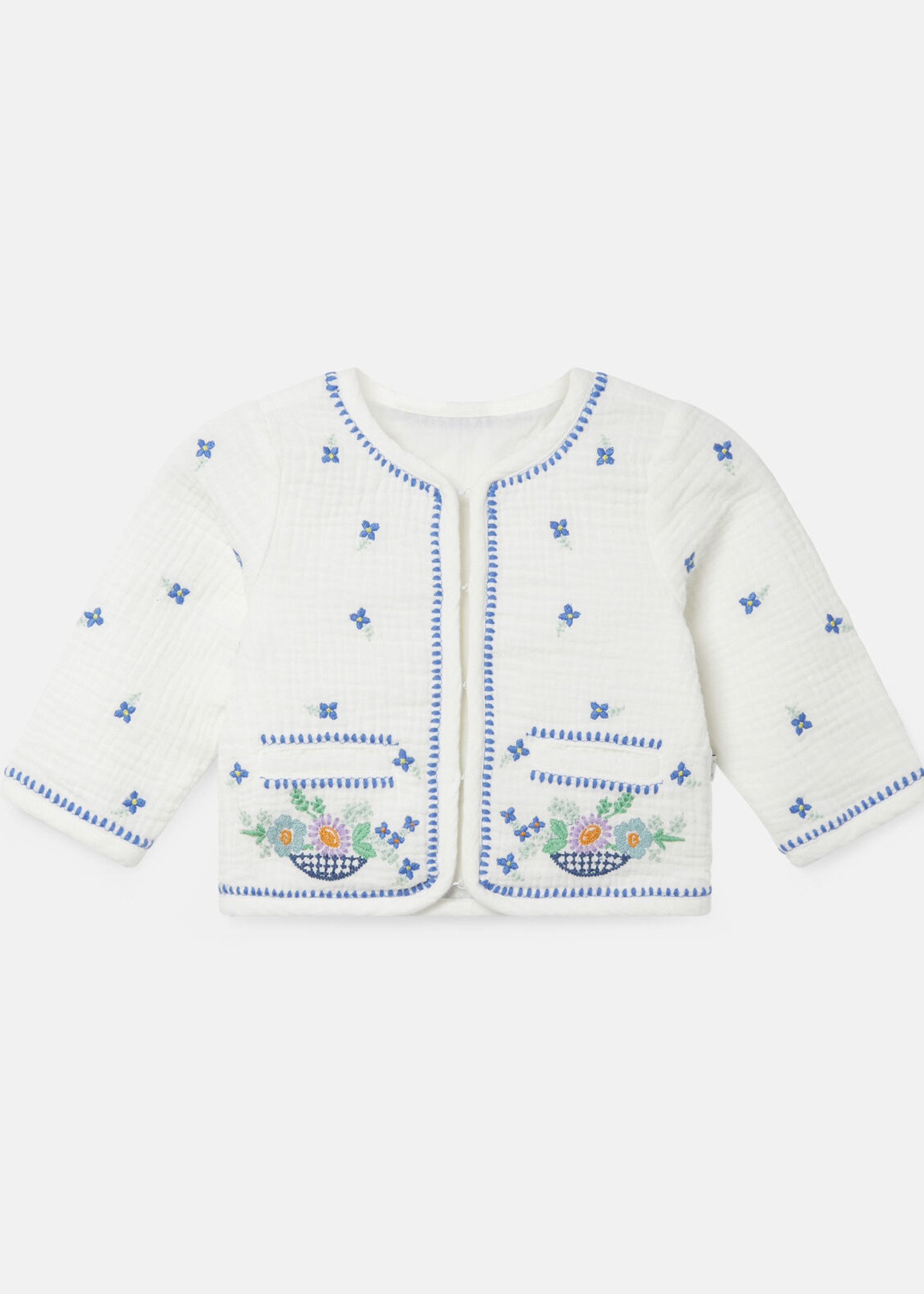 Stella McCartney Stella Mccartney Embroidered Flowers Cotton Jacket 602557 SQKD3