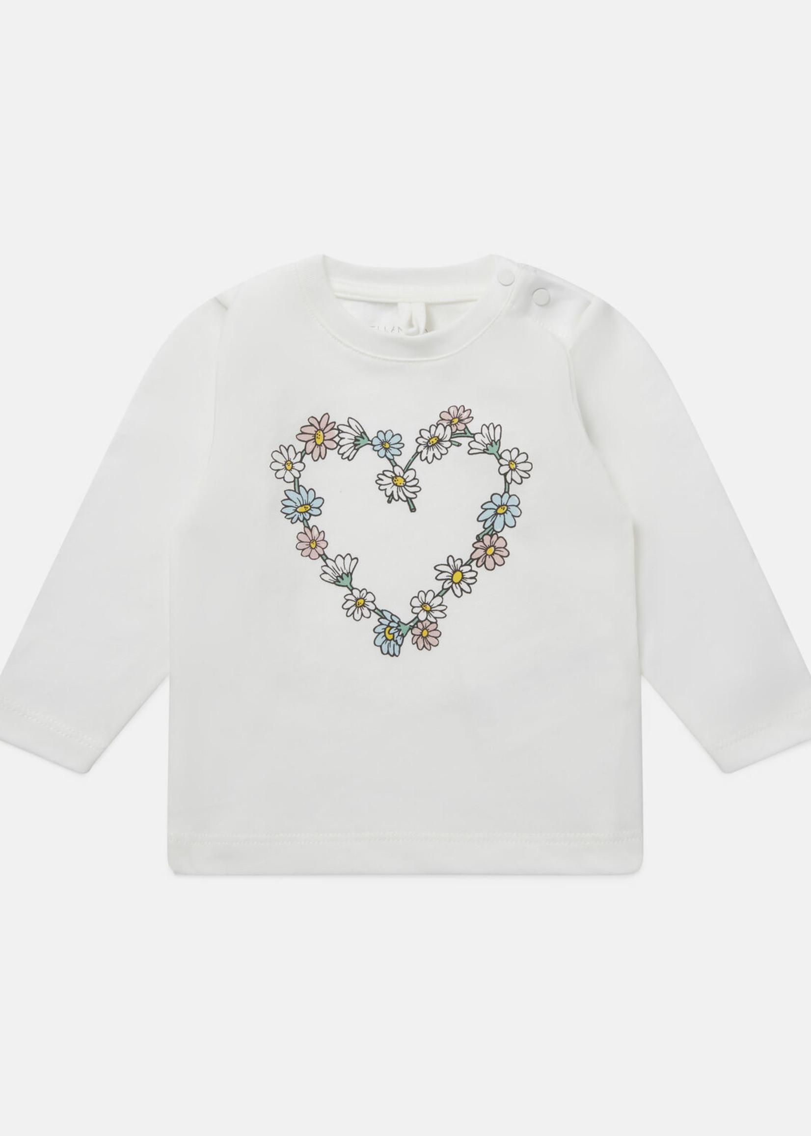 Stella McCartney Stella Mccartney 602598SQJF9 Daisy Heart Cotton Fleece Sweatshirt