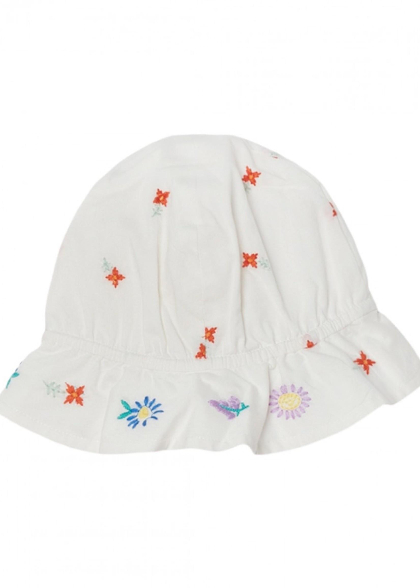 Stella McCartney Stella Mccartney-SS21 602558 Embroidered Flowers Cotton Hat