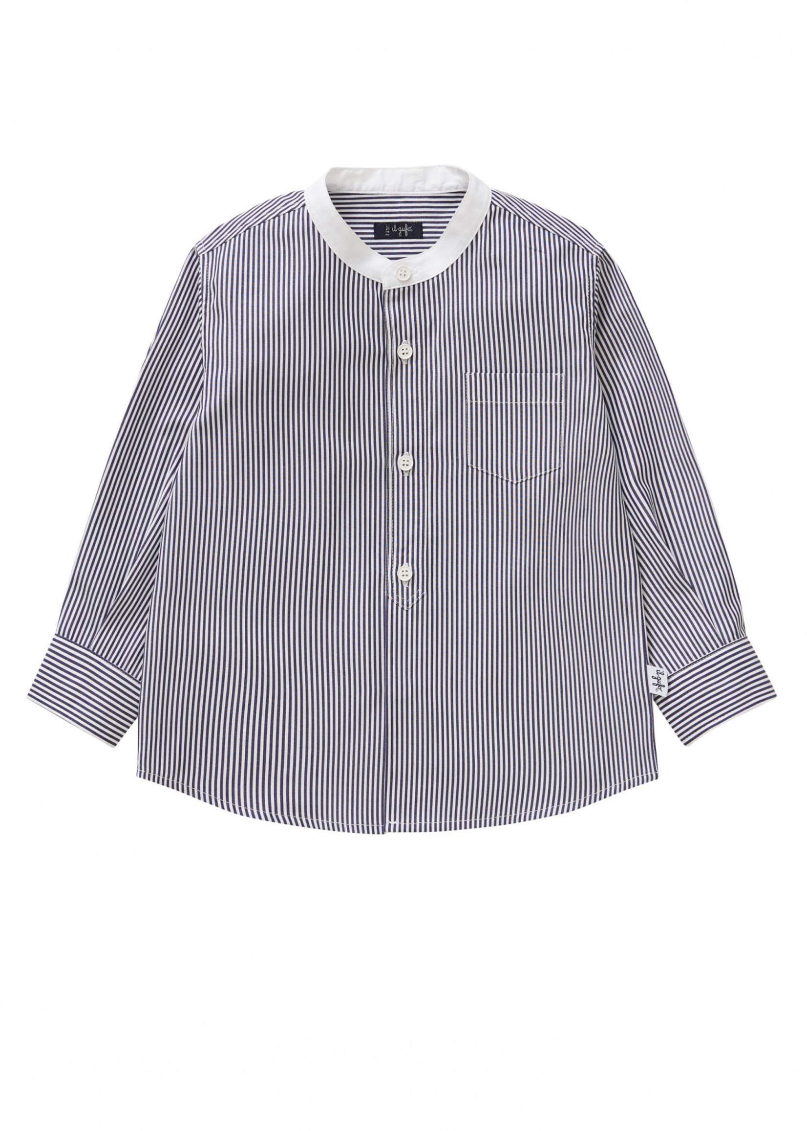 Il Gufo ilGufo Boy stripes shirt