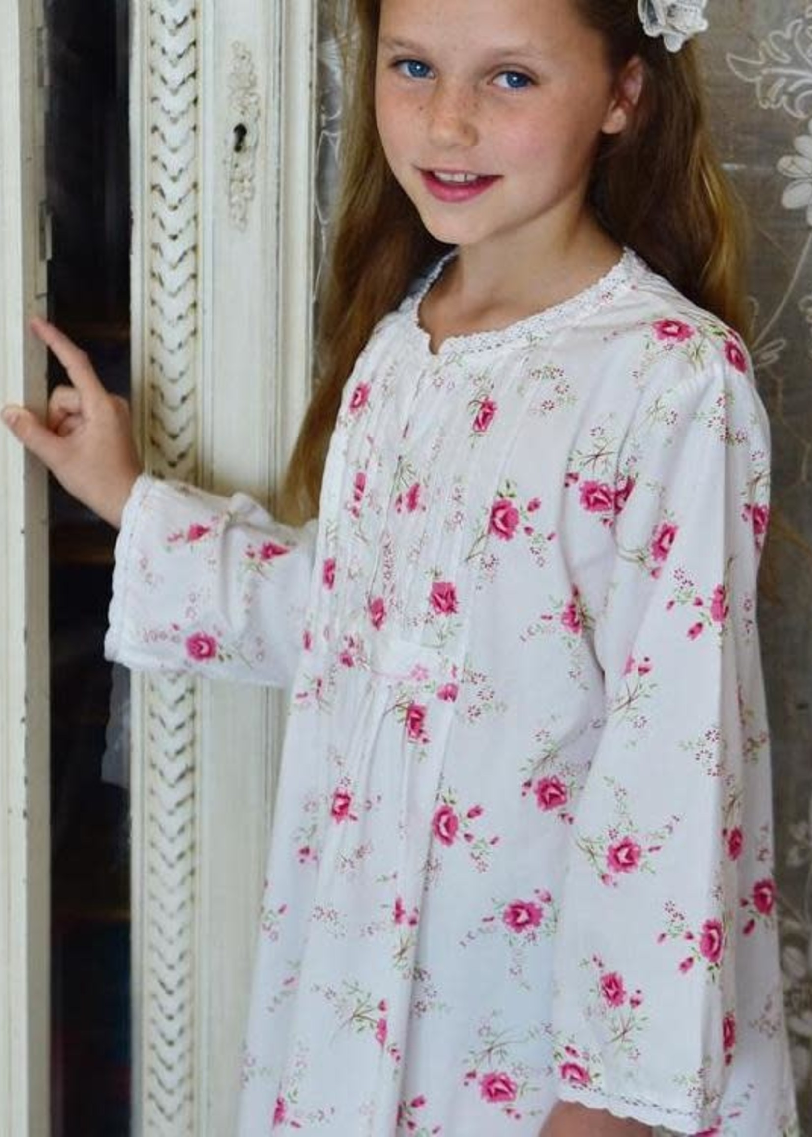 Powell Craft Powell Craft-ss21 ENNY DRESS ROSE FLORAL