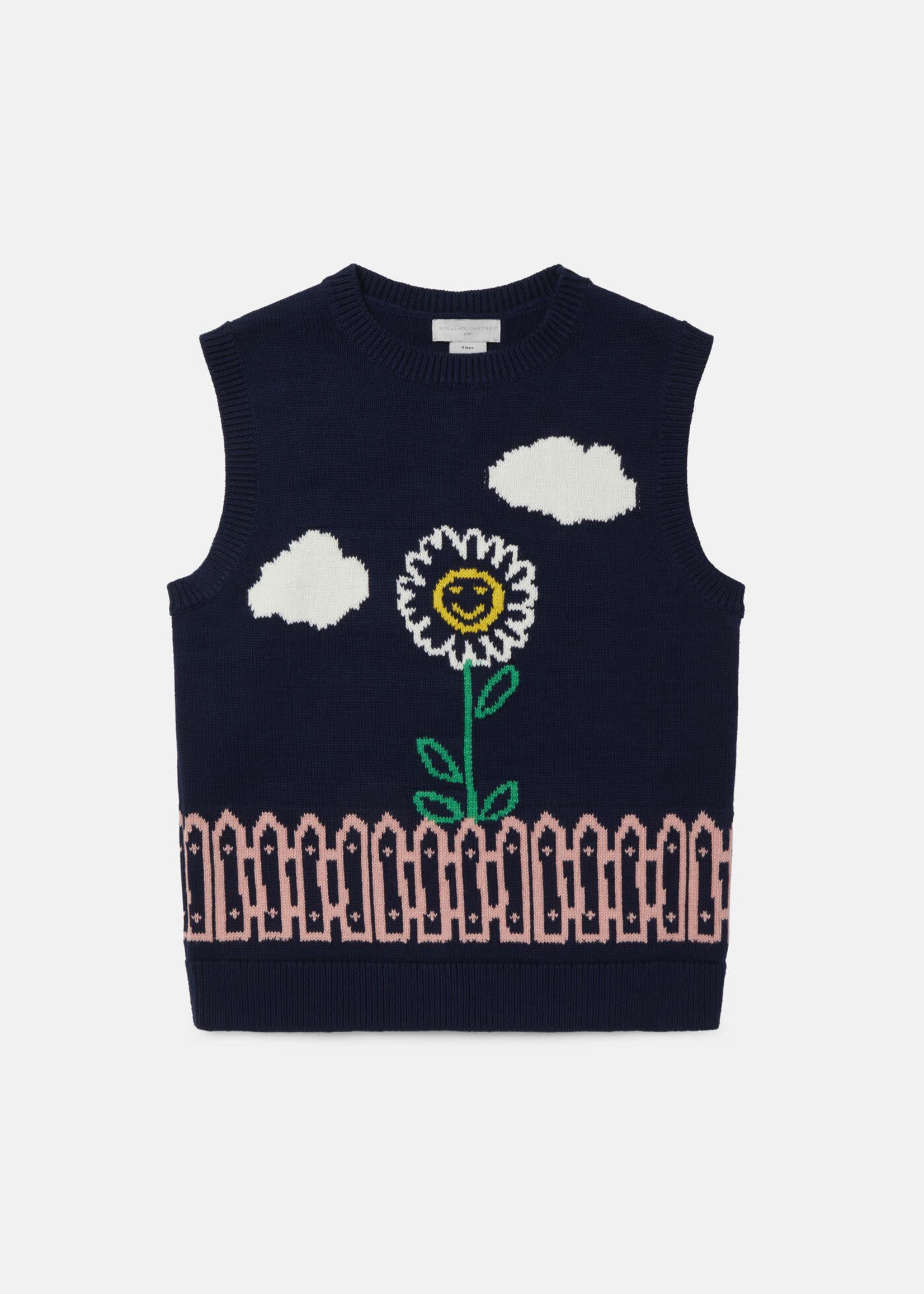 Stella McCartney Stella Mccartney-AW21 603453 Garden Knit Intarsia Gilet