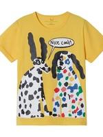 Stella McCartney Stella Mccartney-AW21 Kid Girl Dalmatian Cotton T-shirt   602652 SRJ75