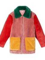 Stella McCartney Stella Mccartney-AW21 Kid Girl Faux Fur Colorblock Coat   603288 SRK60