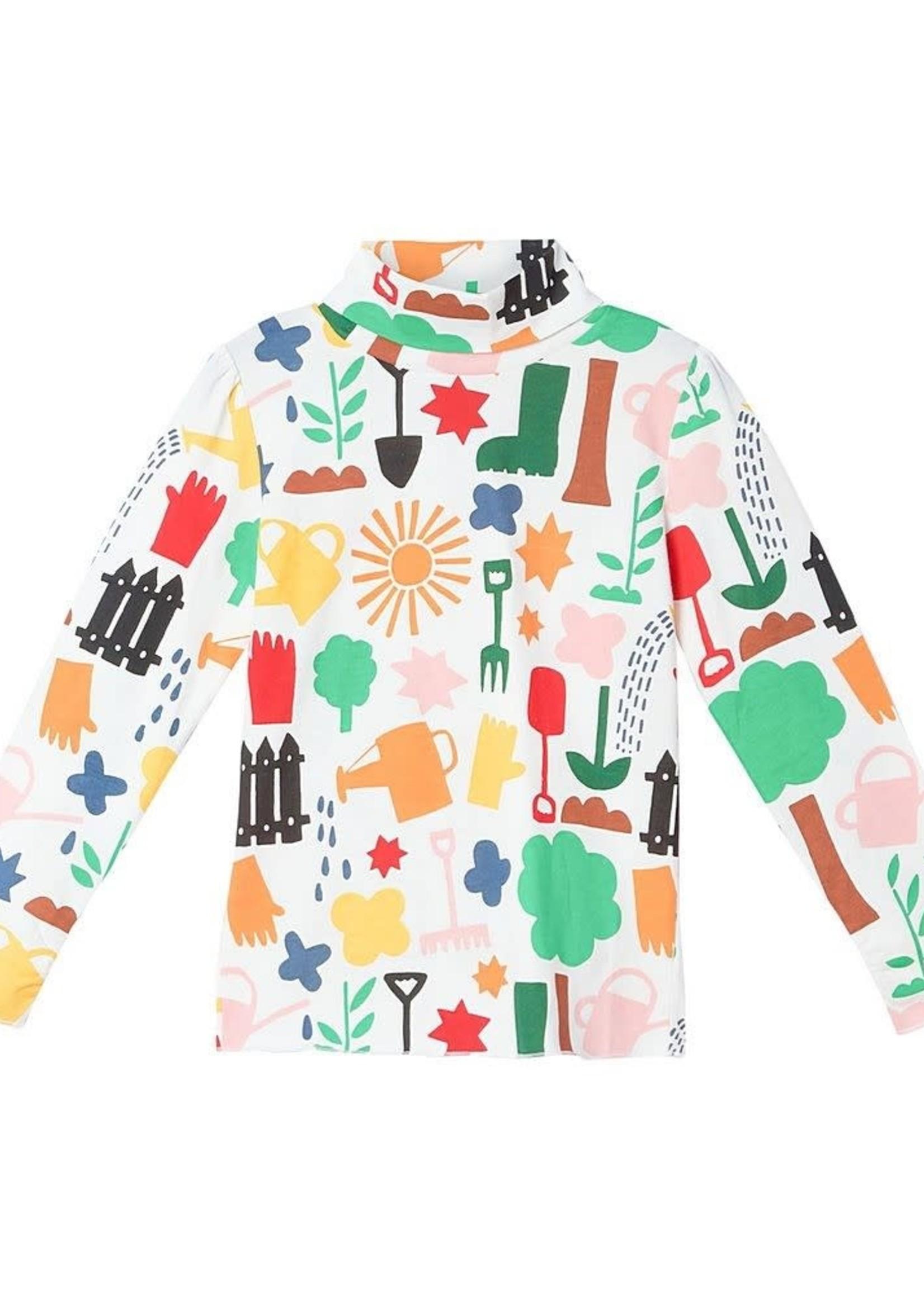 Stella McCartney Stella Mccartney-AW21 Kid Girl Gardening Print Turtleneck   603445 SRJ35