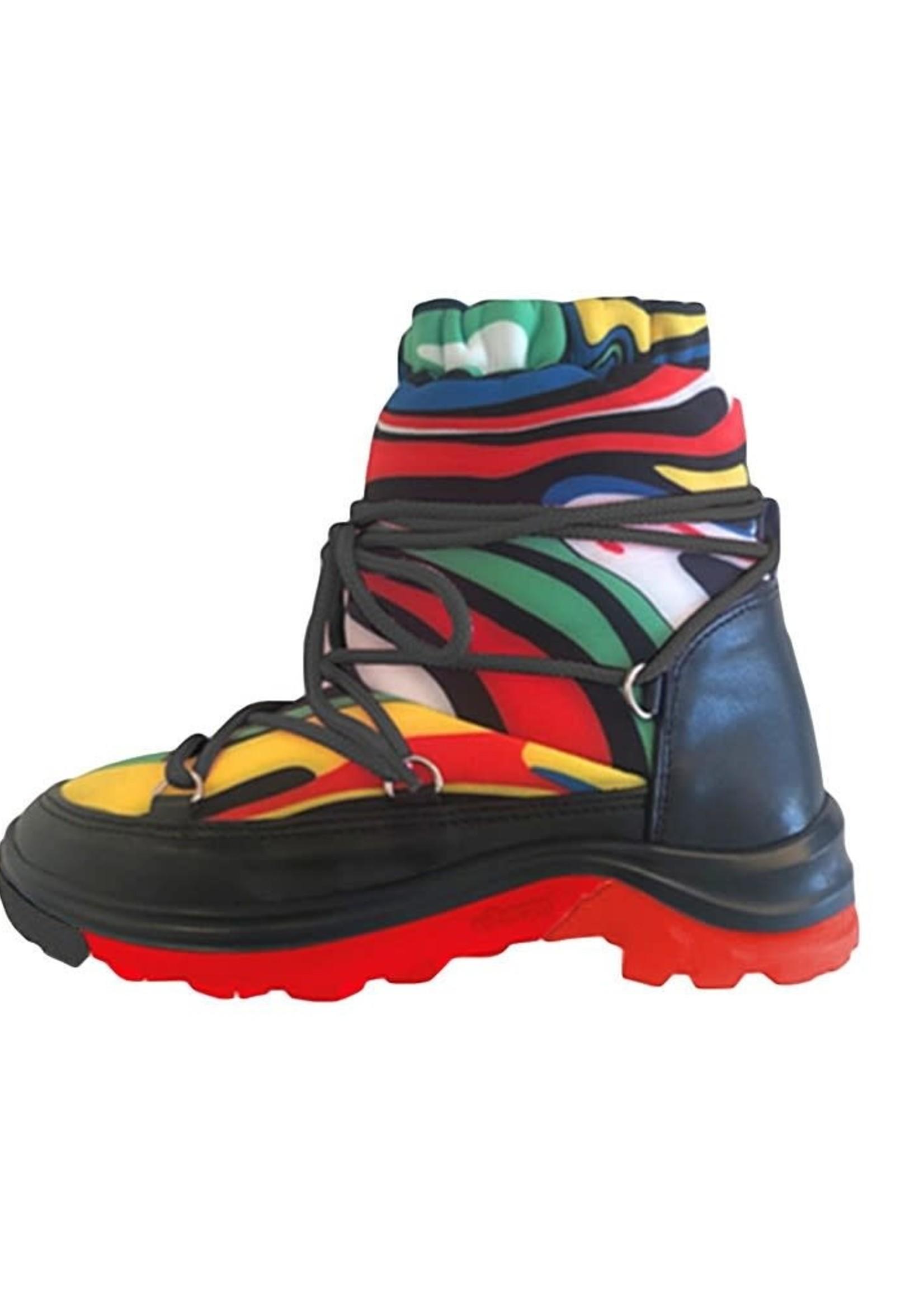 Stella McCartney Stella Mccartney-AW21 Kid Unisex Marble Snow Boots   603510 SRK10
