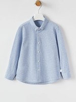 Il Gufo Il Gufo-AW21 Boys Ls Button Down Shirt Knit Fabric   A21 CL126 M0086