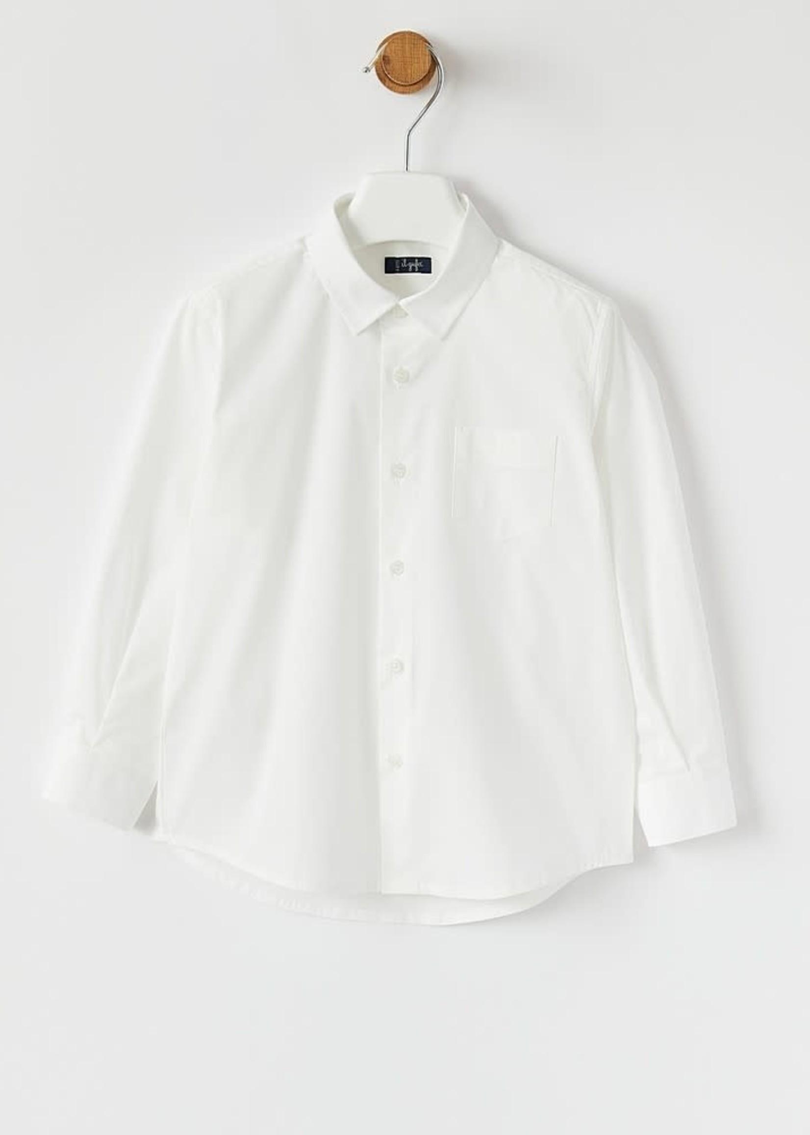 Il Gufo Il Gufo-AW21 BOYS BUTTON DOWN DRESS SHIRT W/COLLAR   A21 CL110