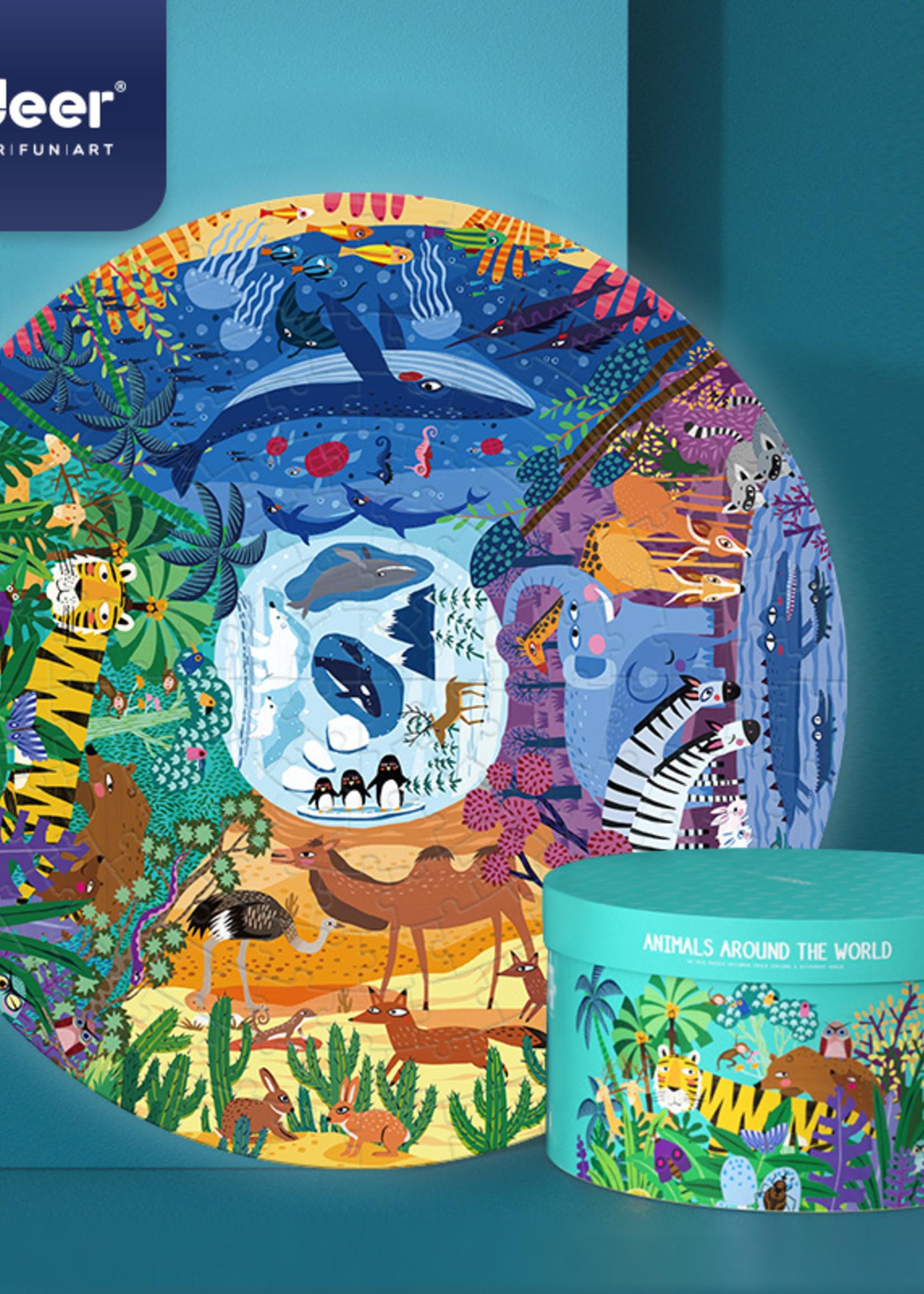 Mideer Mideer-AW20 MD3099 Circle Puzzle - Animals Around The World 150