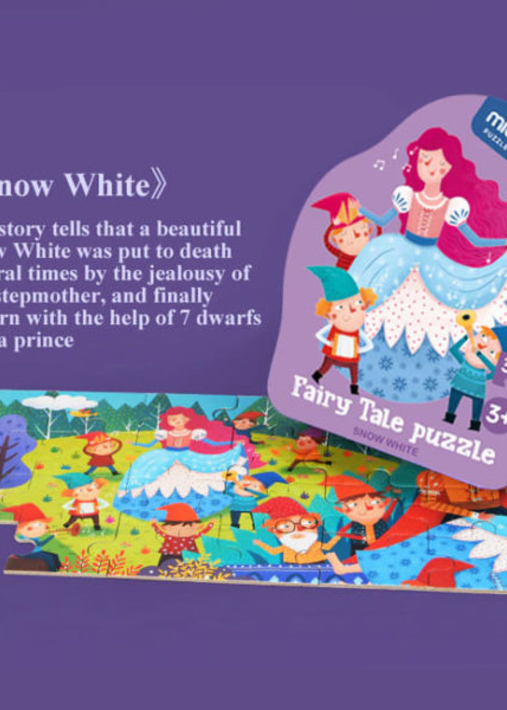 Mideer Mideer-AW20 MD3059 Fairy Tale Puzzle - Snow White 36 pcs
