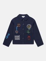 Stella McCartney Stella McCartney-AW21 603301 Embroidered Garden Denim Jacket
