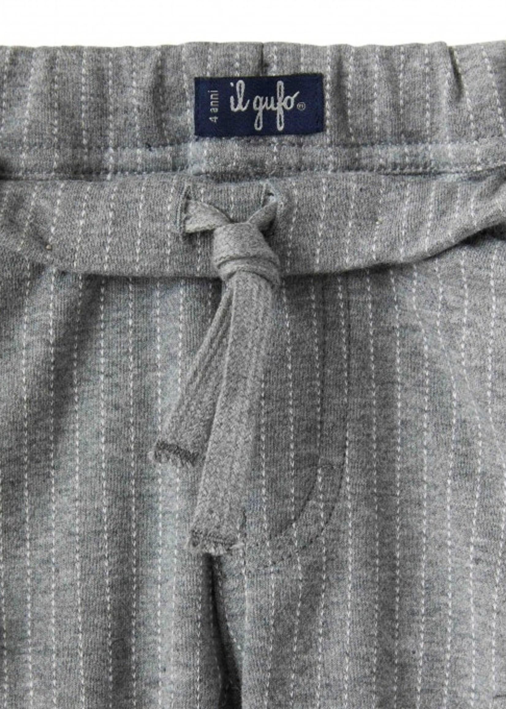 Il Gufo Il Gufo-AW21BOYS ELASTIC WAISTBAND PANTS W/STRIPES  PL347