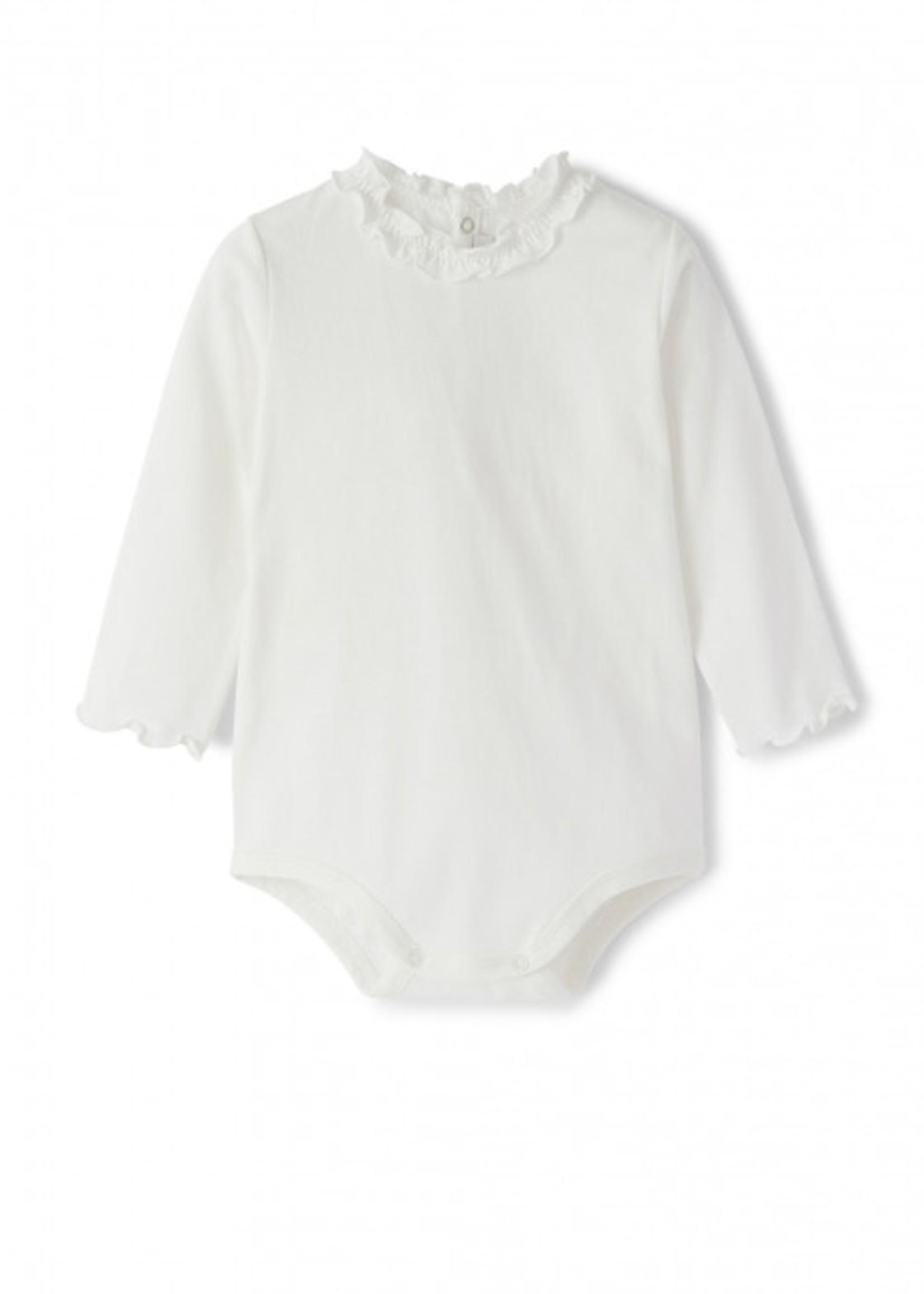 Il Gufo Il Gufo-AW21 Girls onesie truffle trim A21 MB044