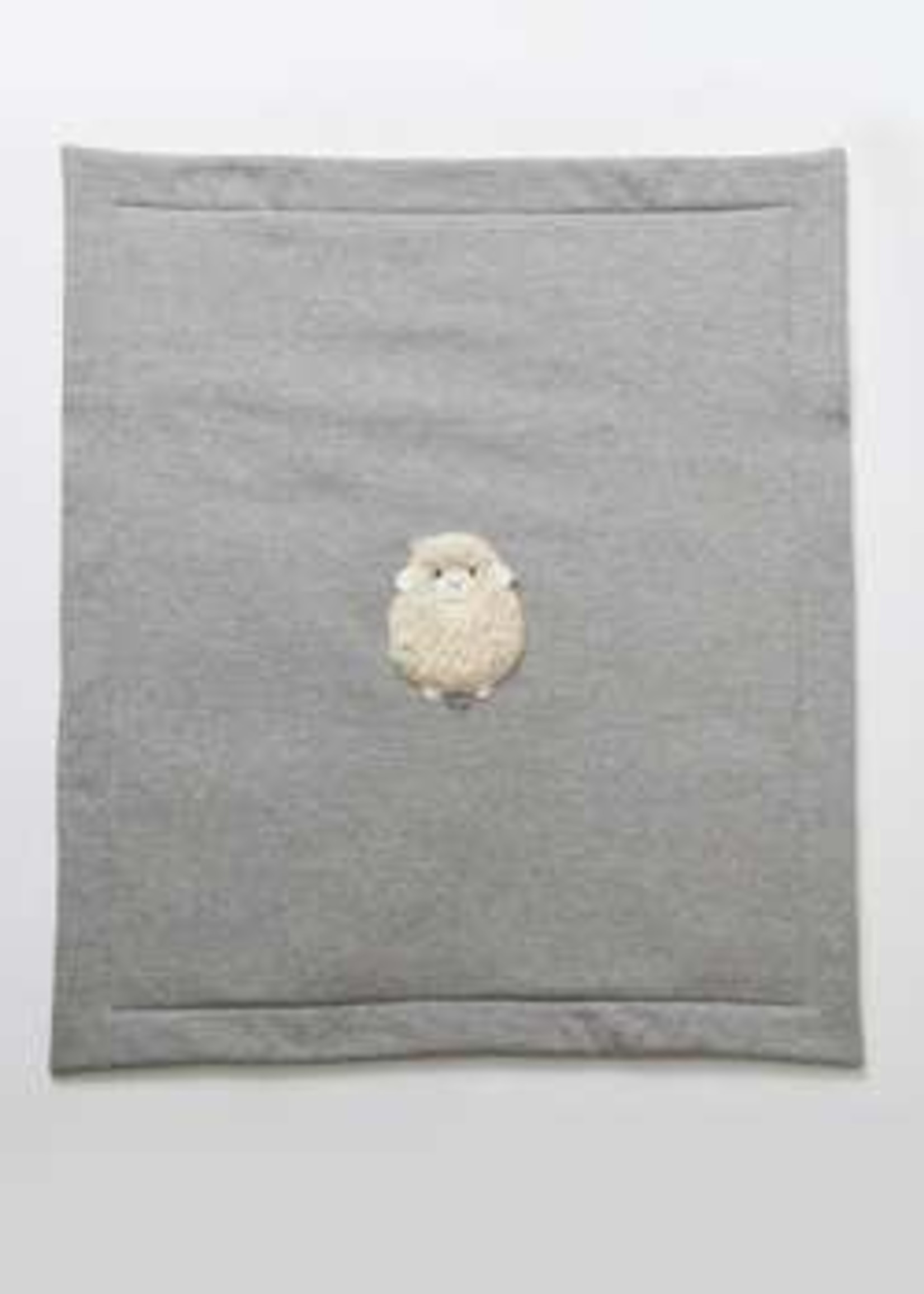 Il Gufo IL GUFO-AW21 OG071 BABY BLANKET W/SHEEP ON THE FRONT