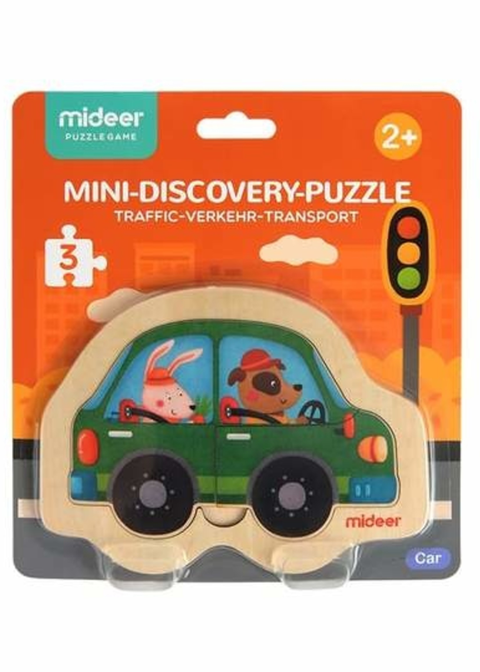 Mideer Mideer-AW21 MD3042 Mini Discovery Puzzle - Car 3 pcs