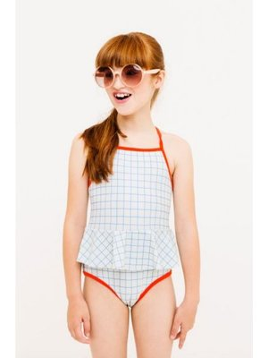 Tiny cottons Tiny Cottons Grid Swimsuit