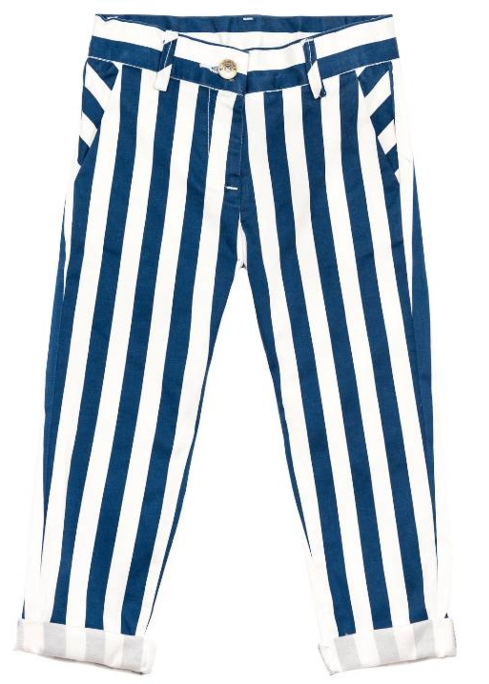 Monnalisa Monnalisa Striped Gabardine Trousers