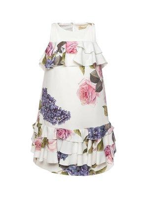 Monnalisa Monnalisa Floral Cady Dress