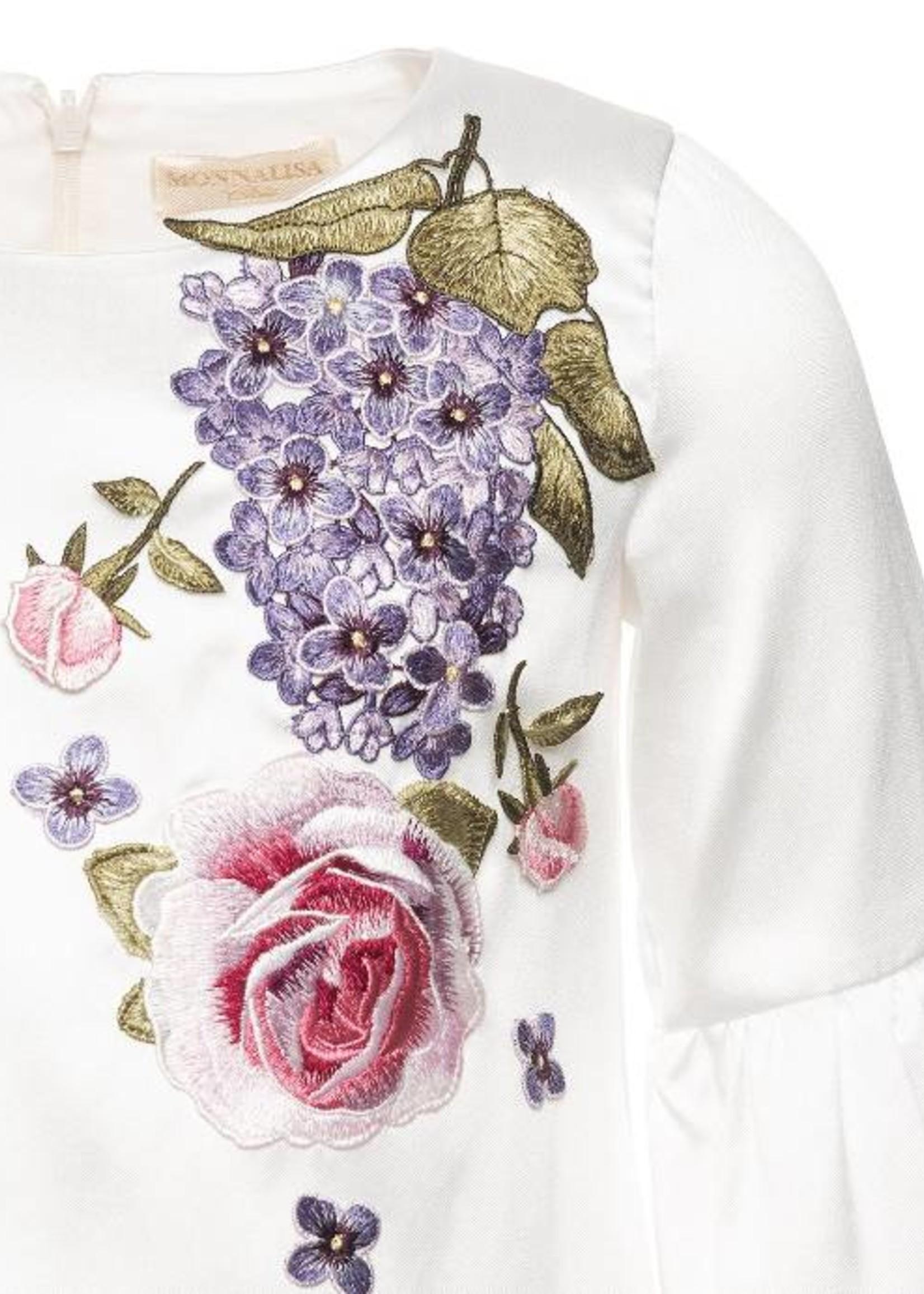 Monnalisa Monnalisa A-line Faille Dress