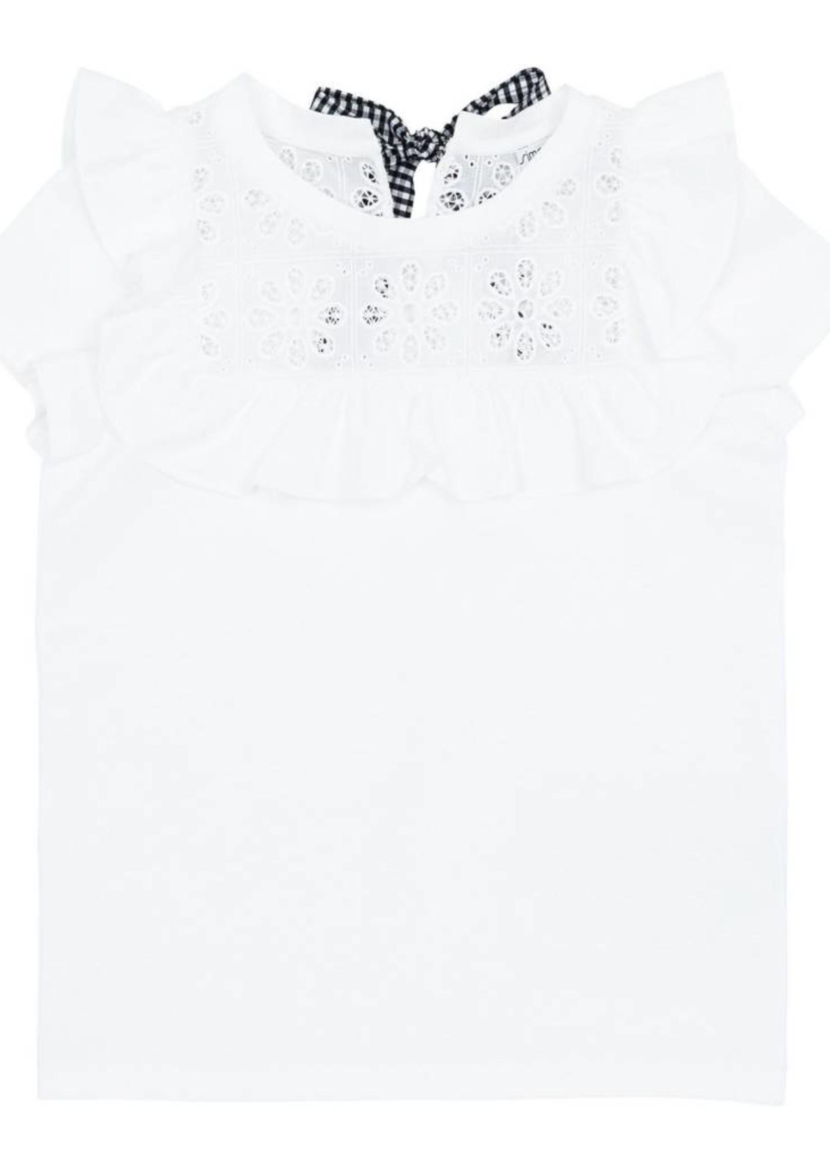 Simonetta Simonetta Crochet Ruffles T-Shirt