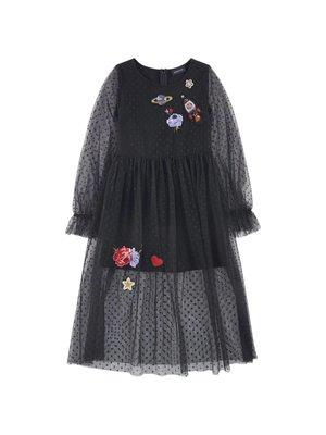 Monnalisa Monnalisa Dots Tulle Dress