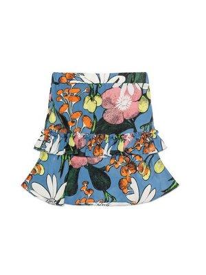 Marni Marni Girl Flower Allover Print Silk Skirt