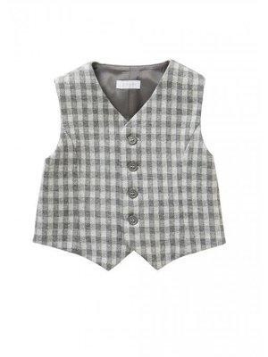Il Gufo ilgufo boy Gingham suit vest