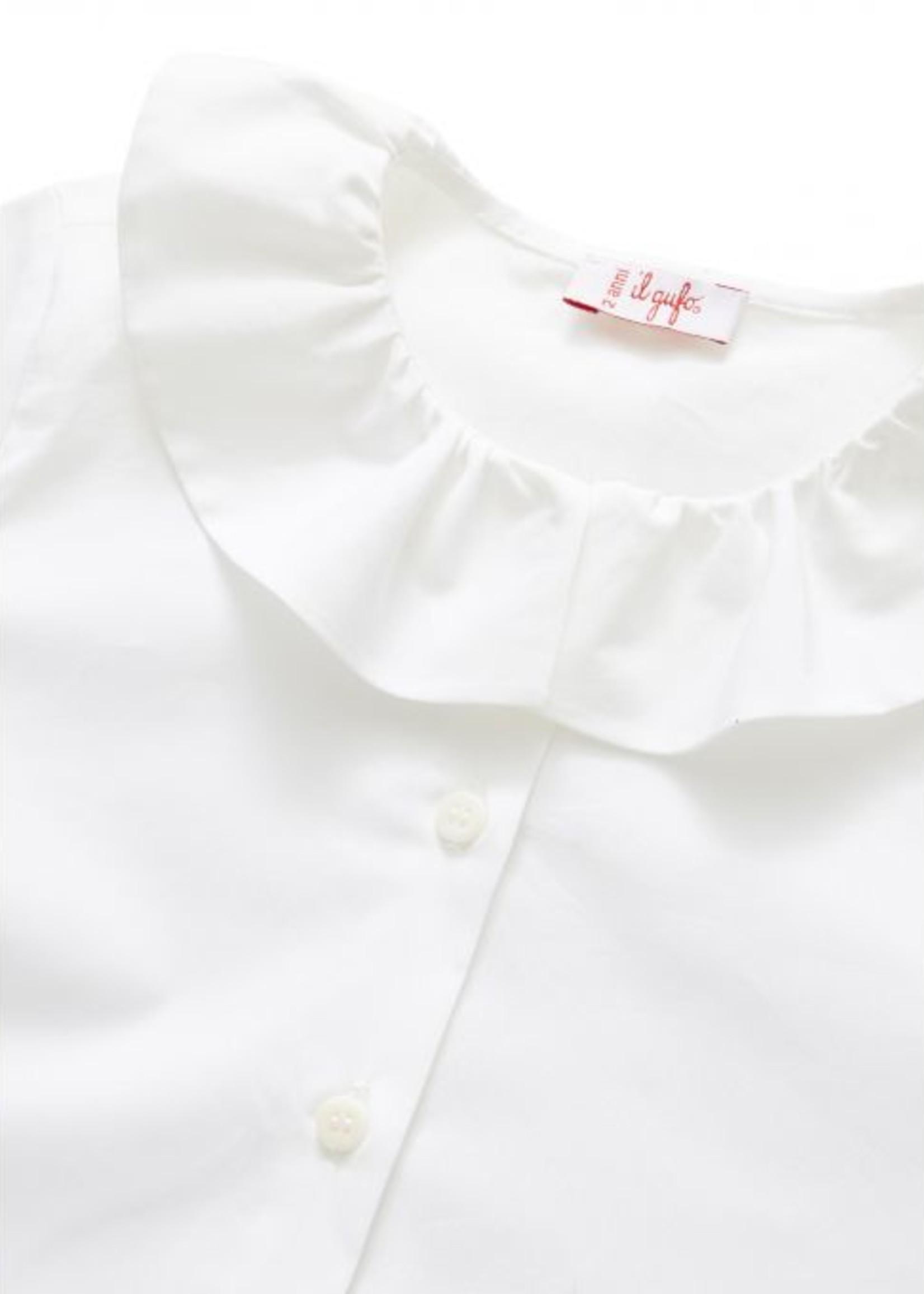Il Gufo ilgufo Girl Blouse w/Ruffle Collar