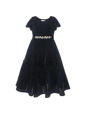 Monnalisa Monnalisa Glitter jersey dress