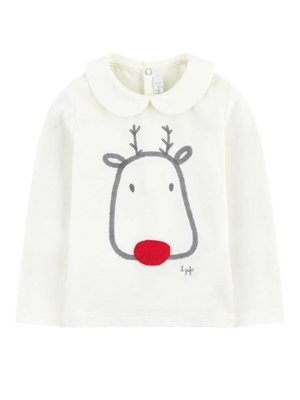 Il Gufo Ilgufo Baby Girl Reindeer Tee