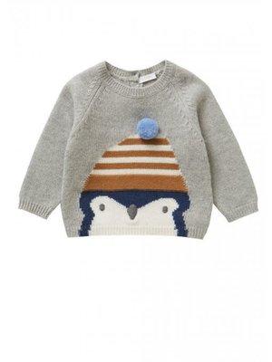 Il Gufo ilGufo baby penguin sweater
