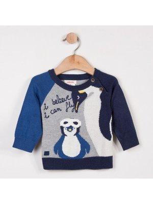 Catimini Catimini Woolly sweater with penguin