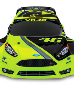 74064-4 - Ford Fiesta® ST Rally: 1/10-scale Electric Rally Racer with Officially Licensed Painted Body. Ready-To-Race® with TQ 2.4GHz radio system and XL-5 ESC (fwd/rev).