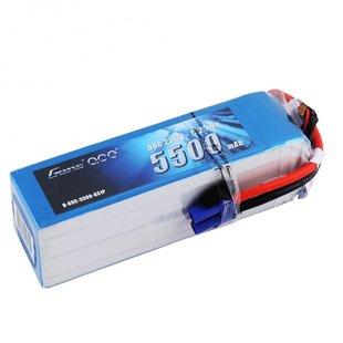 Gens ace 5500mAh 22.2V 60C 6S1P Lipo Battery Pack with EC5 Plug