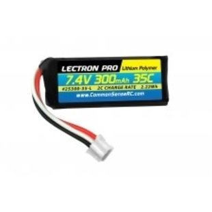 Lectron Pro™ 7.4V 300mAh 35C Lipo Battery with UMX Connector for the UMX Timber, Beast, Carbon Cub, Blade 130X & mCP X