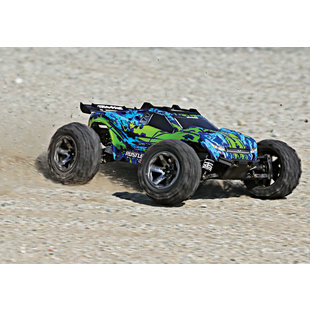 67076-4-GRN Rustler 4X4 VXL with TQi 2.4GHz TSM Green
