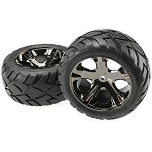 3773A Anaconda Rear Tires with All-Star Wheels Black Chrome (2)