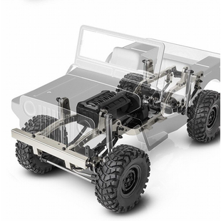 Sawback Crawler Kit, 1/10th Scale, 4WD w/Steel Frame