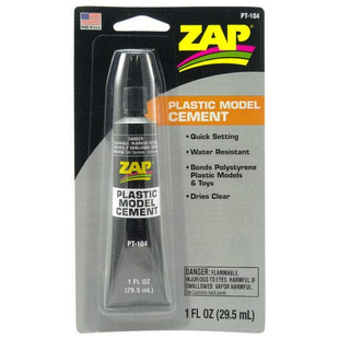 Zap Plastic Model Cement, 1oz, Carded