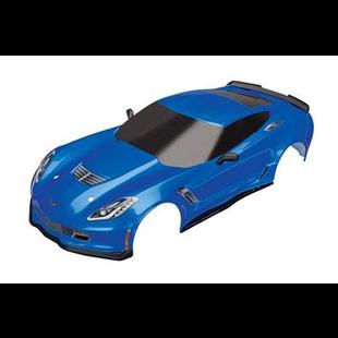 8386X - Body, Chevrolet Corvette Z06, blue (painted, decals applied)