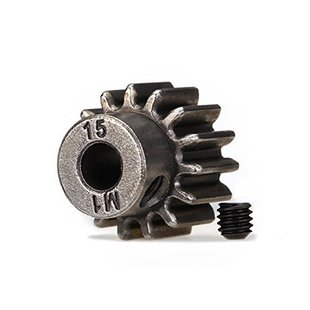 Traxxas 6487X 15-T Pinion Gear 1.0 Metric Pitch fits 5mm Shaft (Compatible with Steel spur Gears)